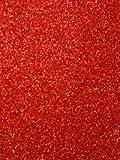 Kraftz–Confezione di 10rosso formato A4fogli di schiuma EVA senza colla Glitter per il fai da te, casa, ufficio, feste, DIY Crafts