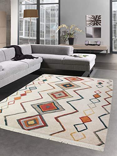 Carpetia tappeto orientale tappeto kilim rhombus turchese verde giallo rosso größe 160x230 cm