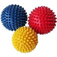 Sobotoo Pelotas de Masaje Spiky, Masaje de Punto de activación, Bola de Ejercicios para recuperación Muscular, reflecología y Alivio del estrés, Juego de 3