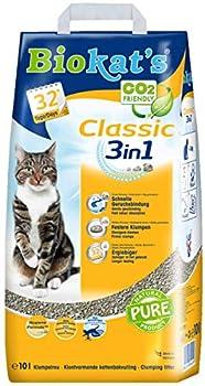 Biokat's - Litière pour chat Classic 3 en 1 - Agglomérante et anti-odeur - Ne colle pas - 1 x 10 L