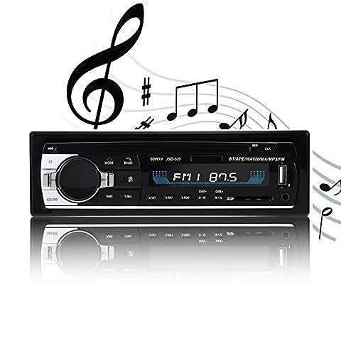 Auto Stereo, You King Car Audio mit Monitor Fernbedienung, Autoradio Bluetooth MP3 Radio Receiver