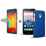 TBOC® Pack: Blau Gel TPU Hülle + Hartglas Schutzfolie