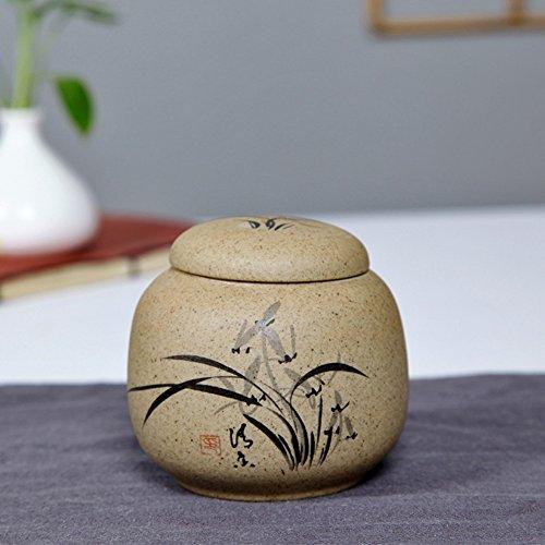 Réveiller les boîtes de thé Vaso di porcellana,Canister de thé,Coffres de stockage de thé,Service à thé-A