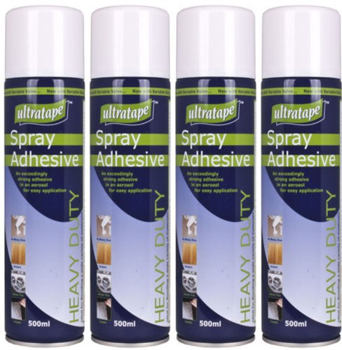 4-x-500ml-tin-heavy-duty-carpet-fabric-foam-craft-spray-mount-adhesive-multi-purpose-glue