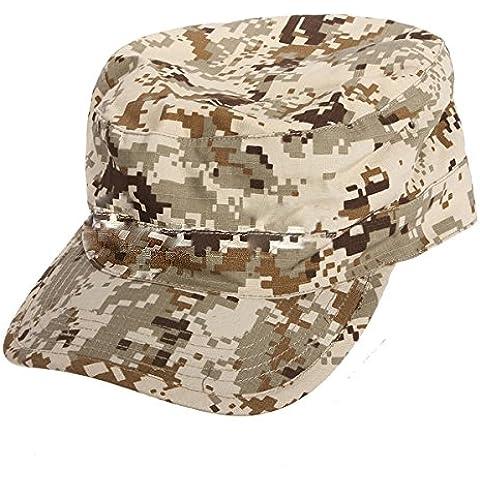 SODIAL(R) Ejercito Militar Urbano Visera Cap Mens Senora Sombrero Camo camuflaje selva beisbol - Desierto Digital