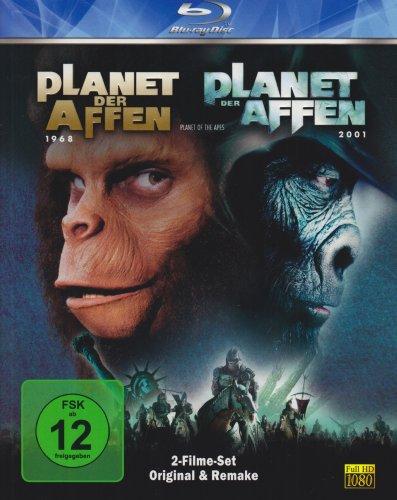 Planet der Affen - Original (1968) & Remake (2001) [Blu-ray] (Der Original Affen Der Planet)
