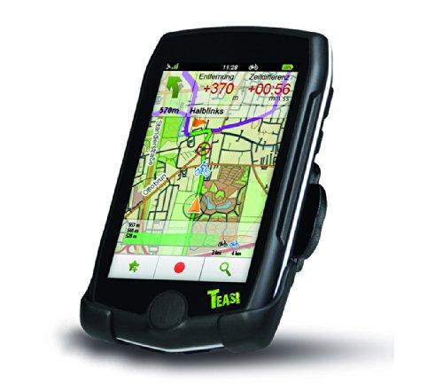 Teasi One Pro - Navigatore satellitare per bicicletta ed escursioni a piedi, con BlueTooth, colore: Nero