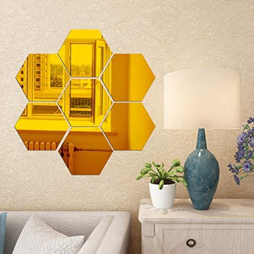 Hexagon Spiegel 7 stücke Einstellung Wandaufkleber Gold Aufkleber Wohnaccessoires Dekoration Hintergrund Küche Dekorative Stereoscopic (größe : 230 * 200 * 115mm)