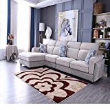 YU&AN Haushalt Dauerhaft Matten,Bereich Decke Moderne Indoor Matten Für Schlafzimmer Bay-Fenster Coffee Table Wohnzimmer-L 140x200cm(55x79inch)