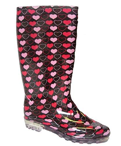 Mesdames Wellies Femmes neige pluie Festival de Wellington Bottes Taille EUR 37, 38, 39.5, 41 Pinkheart