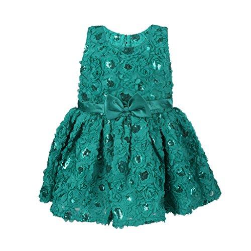 Kid 1 Girls A-Line Dress (KAPGP112GR03_Green_3-4 Years)