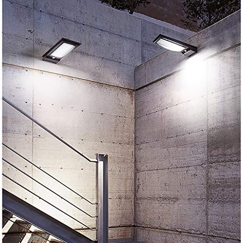Luz Solar Jardín, (2 Paquete) 28 LED Foco Solar Exterior con Sensor de Movimiento Impermeable Inalámbrico 4400mAh Lámpara Solar Pared Seguridad 2 Modos Inteligente para Garaje, Patio, Camino