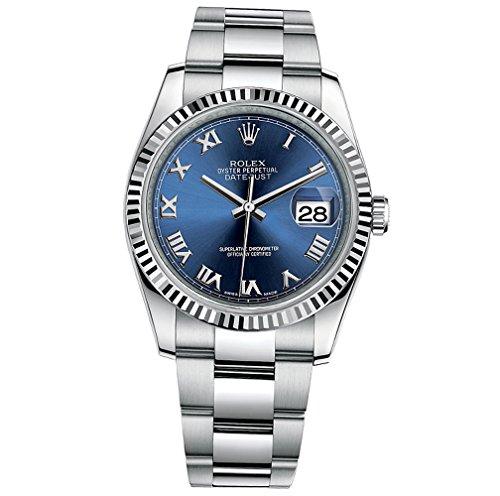 Preisvergleich Produktbild Rolex Datejust setzt 36 Edelstahl blau Zifferblatt Oyster 116234