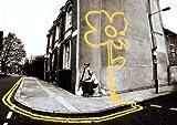 Banksy gelb Flower Man Pollard Street Mini Postergröße 24 x 17 in (61 x 43 cm)