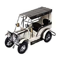 Ukallaite Antique Iron Vehicle Car Model Home Office Decoration Ornament Children Gift Toy (White)