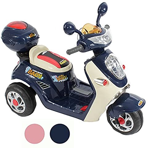 Charles Jacobs Ride on Kids Motorcycle Electric Scooter Motorbike 6V Battery Operated Toy Bike Car (Blue)