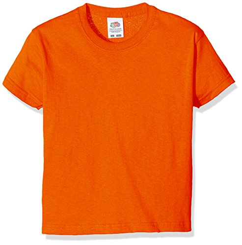 Fruit of the Loom Jungen T-Shirt SS132B, Orange, 3-4 Jahre (4 Kinder-t-shirt)