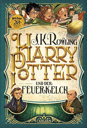 Carlsen Verlag Harry Potter und der Feuerkelch (4. Band, Gebundene Ausgabe) + 1x original Harry Potter Button