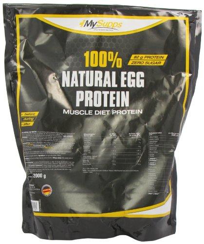 My Supps 100% Natural Egg Protein, 1er Pack (1 x 2 kg) (Restaurant Zucker)