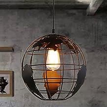 Esoes Lampe de sphérique moderne - Lustre créatif avec pendentif lampe de plafond en Métal Style terrestre pour Salon Chambre Café Bar Restaurant Salle à Manger (Ampoule Non-incluse) (A)