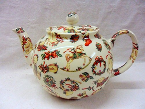 Christmas Gift 6 Cup Teapot By Heron Cross Pottery.