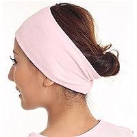 Mytobang 1 PCS Cinta Para Maquillaje Diadema Bufanda Cosmética Ducha Yoga Spa Baño Lavado De Cara Mascarilla Rostro Banda De Pelo - Color rosa