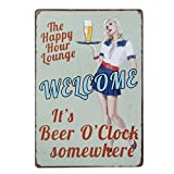 20x30cm Vintage Metal Tin Wall Sign Plaque Poster for Cafe Bar Pub Beer #7