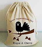 wendana Happy - Bolsas de Acción de Gracias, Personalizables, con cordón, Grandes Regalos para Parejas
