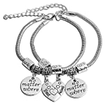Bold N Elegant Friendship's Day Best Friends Forever BFF Duo Bracelet Hand Chain Bangle Combo of 2 Pcs BFF Bestie Gift Long Distance Friendship