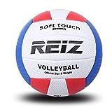 Kitechildheed Ballon d'entraînement de Volleyball de Taille Officielle pour Ballon d'entraînement intérieur et extérieur, Blanc, Rouge et Bleu