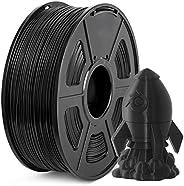 PLA Plus Filament 1.75mm, JAYO Imprimante 3D Filament PLA+, 1KG Bobine, Dimensionnelle +/- 0,02 mm, PLA+ Noir