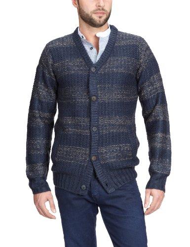 Blend - Jersey con cuello de pico de manga larga para hombre, talla 43, color Azul marino 230