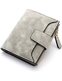 45933c654 WYHFS Billetera para Mujer Cerrojo Monedero pequeño y Delgado Monedero  Bolsos para Mujer Monederos Portafolios Diseñador