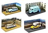 OPO 10 - Batch von 4 Citroen Vans: CX HY ID19 MEHARI Artisan Nutzfahrzeuge 1/43 (04-07-20-02)