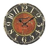 Wanduhr Vintage, Likeluk 14 Zoll(35cm) Lautlos Wanduhr Holz Uhr Uhren Wall Clock ohne Tickgeräusche