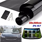 2PLY 20'' X 10FT VLT 5% Black Car Home Glass Window TINT TINTING Film Vinyl Roll
