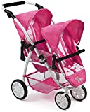 Bayer Chic 2000 689 89 Tandem-Buggy Vario, Zwillings-Puppenwagen, Pony & Princess, pink
