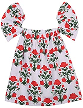 Ragazza estate vestito, Tpulling Vestito di vestito casuale da vestito dalla principessa della stampa delle ragazze…