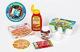 Polly Kaufladen Zubehör Set Pizza, Ketchup, Eier Miniaturen | Kinder Spielzeug für den Kaufmannsladen | Kinderkaufladen