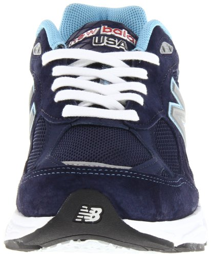 New Balance W990 Womens Navy with White & Light Blue