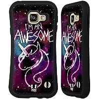 Head Case Designs Licorne Art De Nébuleuse Étui Coque Hybride pour Samsung Galaxy A3 (2016)