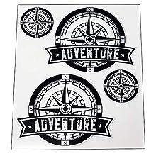 Quattroerre Sticker Adventure Wind Rose 2 Super Transparent, 20 x 24 cm