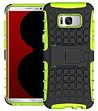 Roreikes Samsung Galaxy S8 Hülle, Galaxy S8 (5,8 Zoll) Case, Dual Layer Rugged Armor stoßfest Handy Schutzhülle Silikon Tasche für Samsung Galaxy S8 (5,8 Zoll) - Grün -