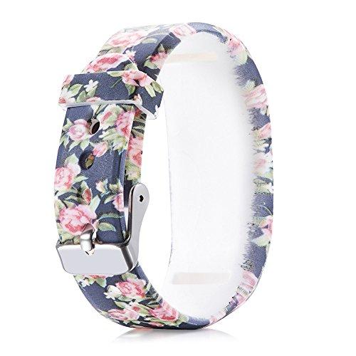 FBGood Mode Digitaldruck Ersatz Uhrenarmband Für Garmin Vivofit 3, Unisex Smart Watch Ersatzband Freizeit Weiches Silikon Sportarmband Geschäft Armband Zubehör (Casio Klettverschluss Analoge Armbanduhr)