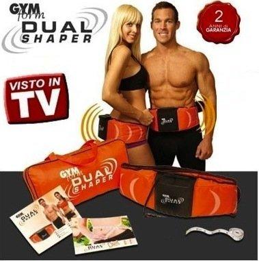Gym Form Dual Shaper - Cinturón de masaje para fortalecer músculo