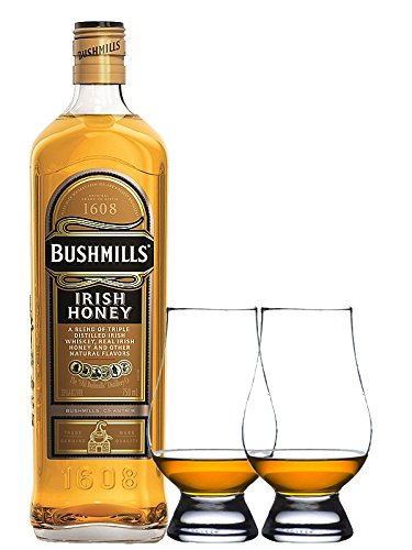 bushmills-irish-honey-07-liter-2-glencairn-glaser