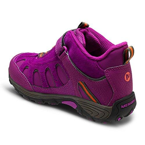 Merrell Light Tech Hike Mid Ac Waterproof, Chaussures de Randonnée Hautes fille Berry