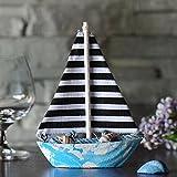 KESOTO Holz Segelschiff Deko Maritim Dekoartikel Meer Schiff Boot - Segelboot 1