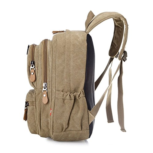 Zhhlaixing Borse di moda Fashion Retro Canvas Shoulder Bags Korean Style Travel Backpack Tide Leisure Package for Women Black