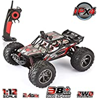 VATOS RC Car Off Road Vehicle High Speed Remote Control Truck Buggy 1:12 Scale 2.4GHz with LED Night Vision